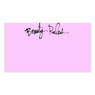 BEAUTY RULE CONFIDENCE QUOTES ATTITUDE MOTTO CHEEK BUSINESS CARDS