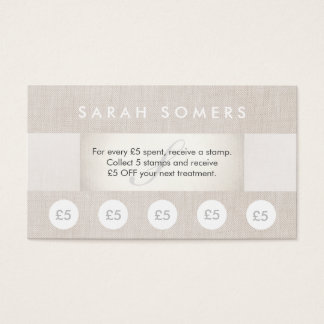 Beauty Salon and Spa 5 Stamp Punch Loyalty Card