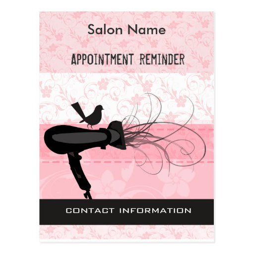 Beauty Salon Appointment Reminder Post Cards