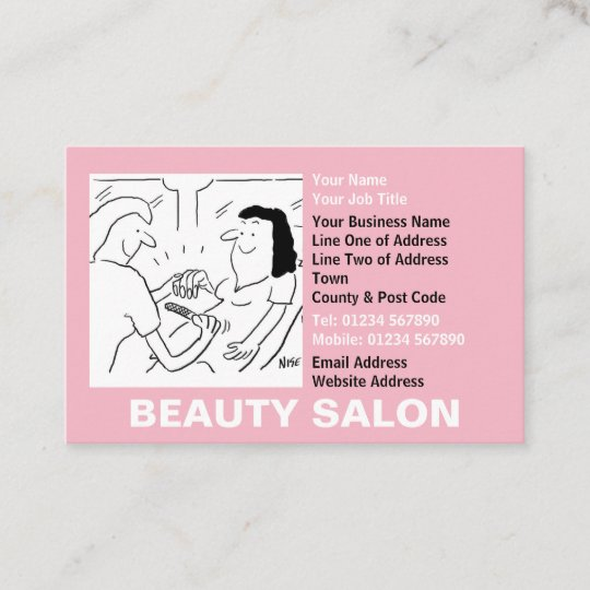 Beauty Salon Appointments Business Card