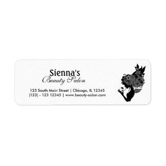 Beauty Salon (Black) Return Address Label