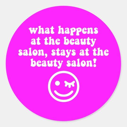 Beauty salon classic round sticker