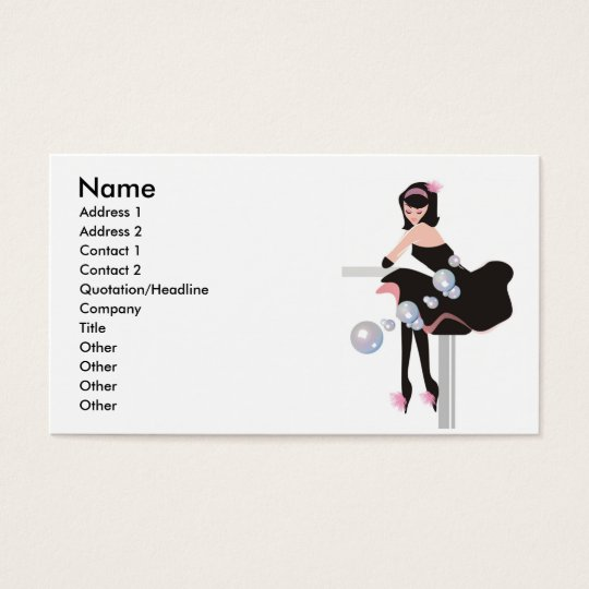 Beauty Salon, Club or Bar Business Card