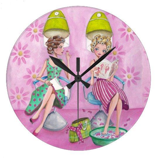 Beauty Salon Girls - Clock