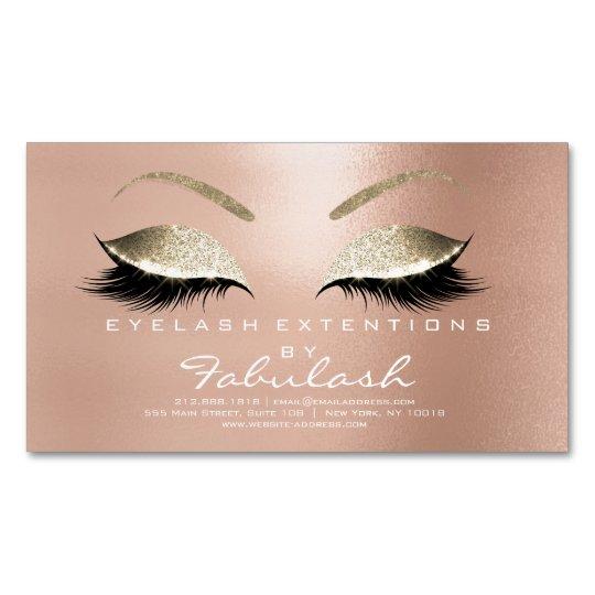 Beauty Salon Gold Glitter Adress Makeup Pink Magnetic