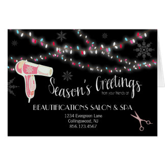Beauty Salon Holiday Greeting Card