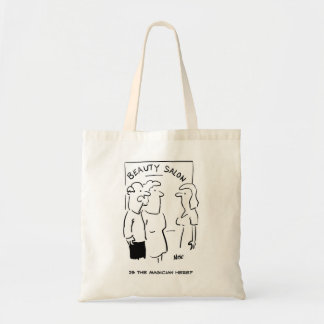 Beauty Salon - is the magician here? Budget Tote Bag