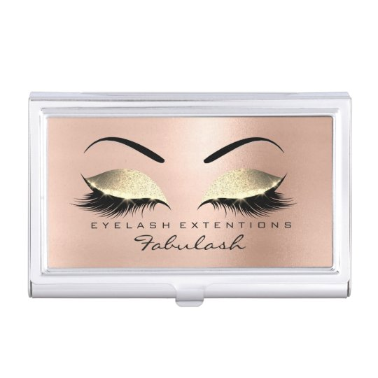 Beauty Salon Lashes Makeup Skinny Pink Gold Glam