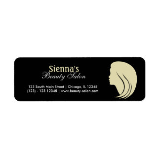 Beauty Salon (Lemon Chiffon) Return Address Label