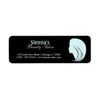 Beauty Salon (Light Cyan) Return Address Label