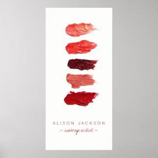 Beauty salon lipstick colors swathes poster