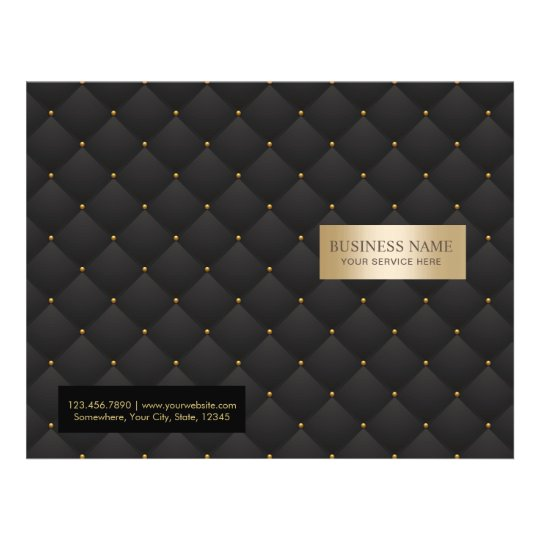 Beauty Salon Luxury Black & Gold Quilted Bi-Fold