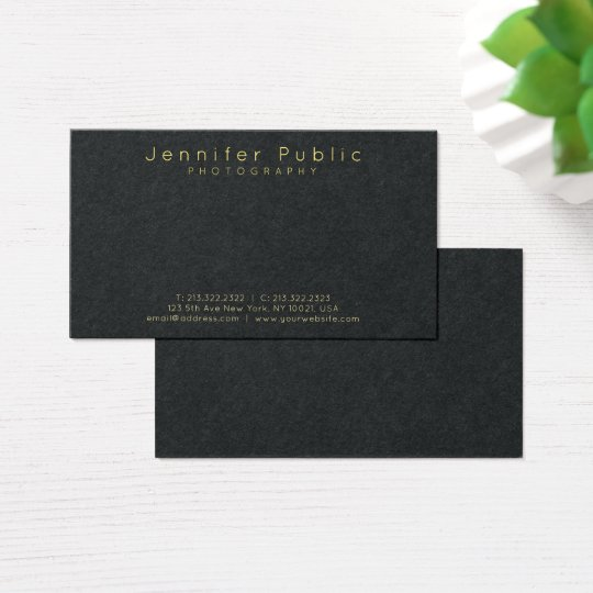 Beauty Salon Makeup Photographer Premium Black Business Card