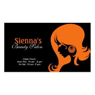 Beauty Salon Orange Business Cards