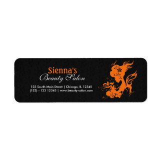 Beauty Salon (Orange) Return Address Label