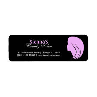 hair and beauty labels address return address labels