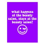 Beauty salon postcard