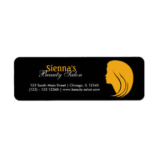 Beauty Salon Return Address Label
