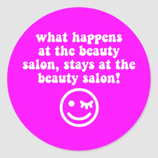 Beauty salon round sticker