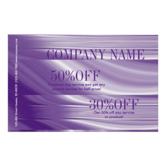 beauty salon SPA fashion purple makeup artist Personalized Flyer