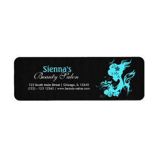 Beauty Salon (Turquoise) Return Address Label