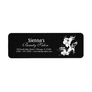 Beauty Salon (White) Return Address Label