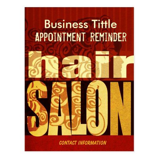 Beauty Salons & Spa Hairstylist Urban Modern Postcard