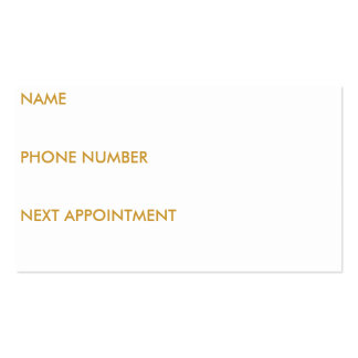 BEAUTY SALSON PACK OF STANDARD BUSINESS CARDS