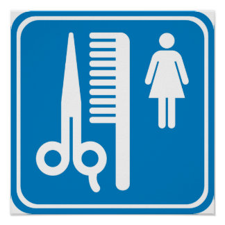 Beauty Shop Highway Sign