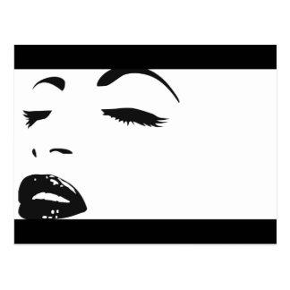 beauty silhouette postcard