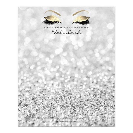 Beauty Skinny Lashes Makeup Stylist Silver Gray Flyer