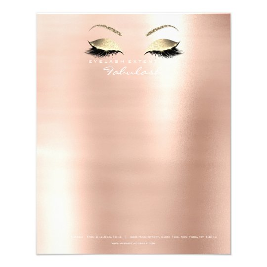Beauty Skinny Lashes Makeup Stylist White Script Flyer