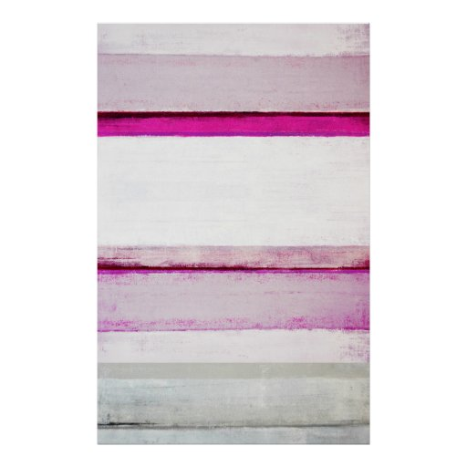 'Beauty Sleep' Pink and Grey Abstract Art Poster