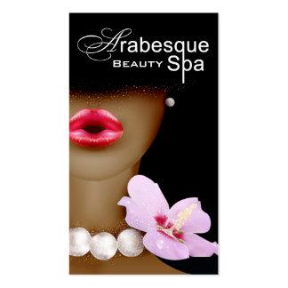 Beauty Spa Arabesque Makeup Artist Business Card Template