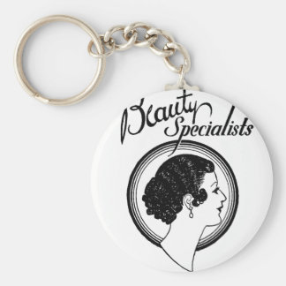 beauty specialists basic round button key ring