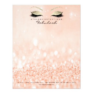 Beauty Studio Lashes Makeup Stylist Gold Peach Flyer