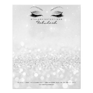 Beauty Studio Lashes Makeup Stylist Silver Gray2 Flyer