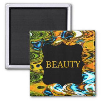 Beauty Swirls Fridge Magnet