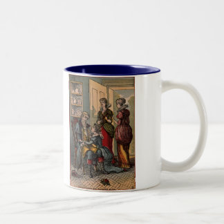 Beauty & The Beast Belle Takes Father's Place Two-Tone Coffee Mug