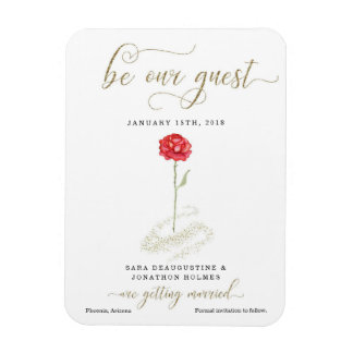 Beauty & the Beast Save the Date Announcement Magnet