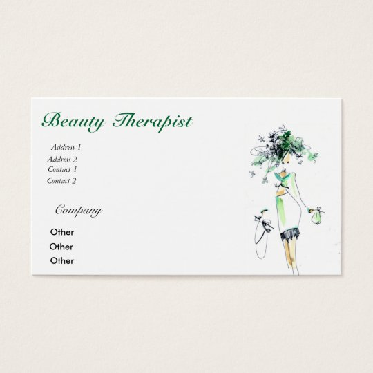Beauty Therapist Business card
