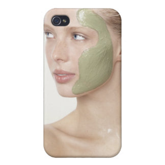 beauty, wet, spa, hair up, blonde, blue eyes iPhone 4 case
