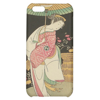 Beauty With An Umbrella Japanese Woodblock Print iPhone 5C Cases