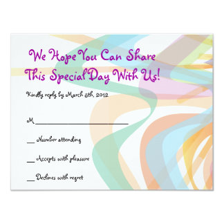 Beauty Within Face Bat Mitzvah Reply card