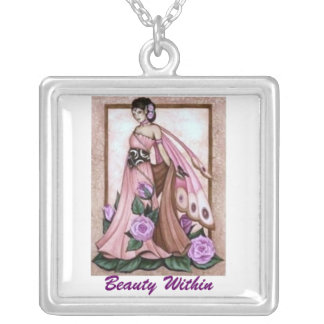 Beauty Within Square Pendant Necklace