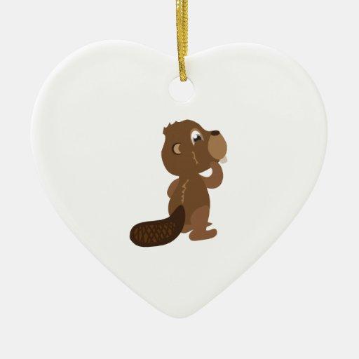 Beaver Animal Christmas Ornament