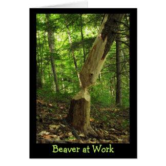 Beaver at Work Card