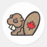 Beaver canada stickers