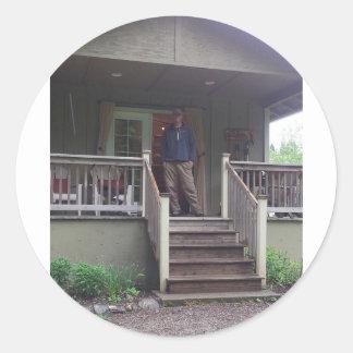Beaver Creek Cabins Round Sticker