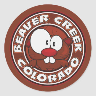 Beaver Creek Circle Classic Round Sticker